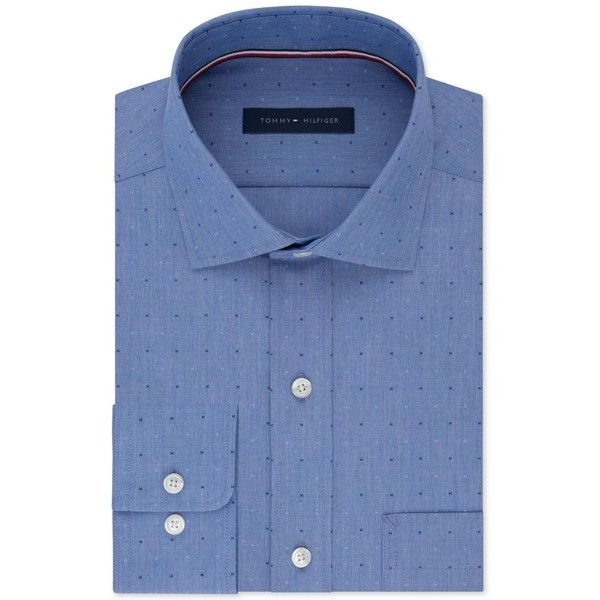 Tommy Hilfiger Men's Classic Fit Non-Iron Performance Dress Shirt (€29) ❤ liked on Polyvore featuring men's fashion, men's clothing, men's shirts, men's dress shirts, blue, men's non iron dress shirts, tommy hilfiger mens shirts, mens dress shirts, men's no iron dress shirts and mens blue dress shirt
