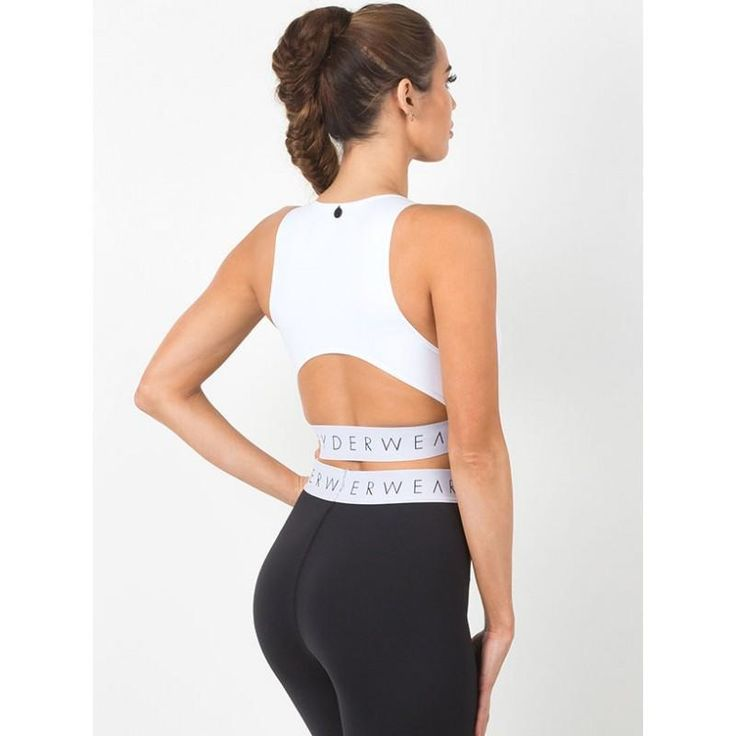 Block Banded Crop - White