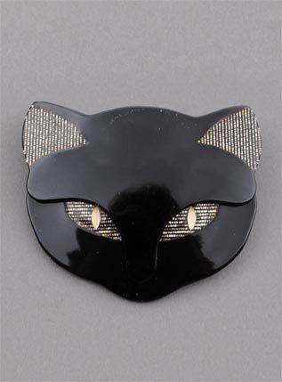 LEA STEIN BACCHUS CAT' HEAD BROOCH