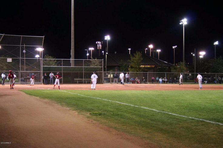 Baseball fields at Anthem Community Park, Anthem, Arizona.