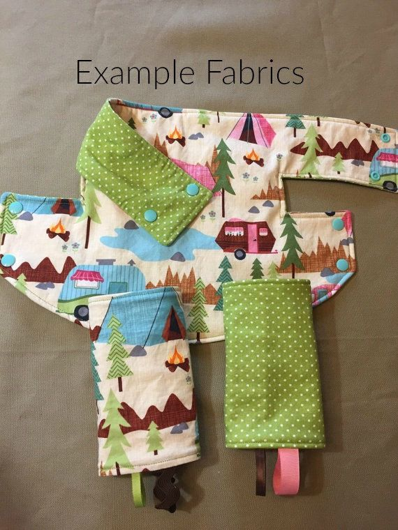 CUSTOM Drool Bib and Suck Pads for LILLEbaby Complete Baby Carrier - Reversible…