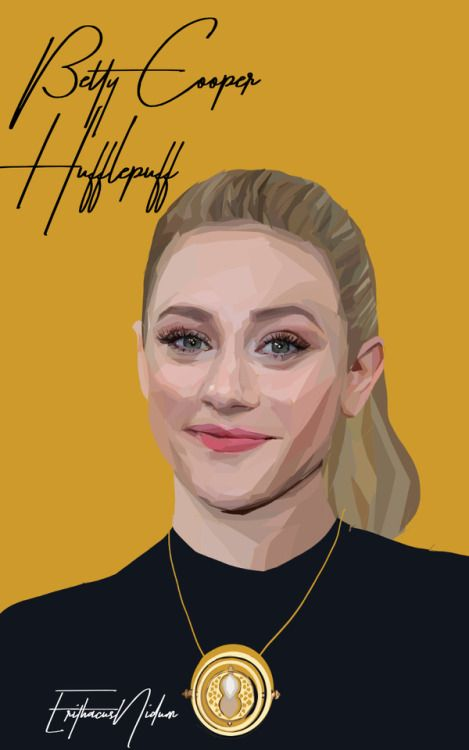 Betty Cooper //Hufflepuff Riverdale Hogwarts AU //please don't repost or remove credit more Riverdale art