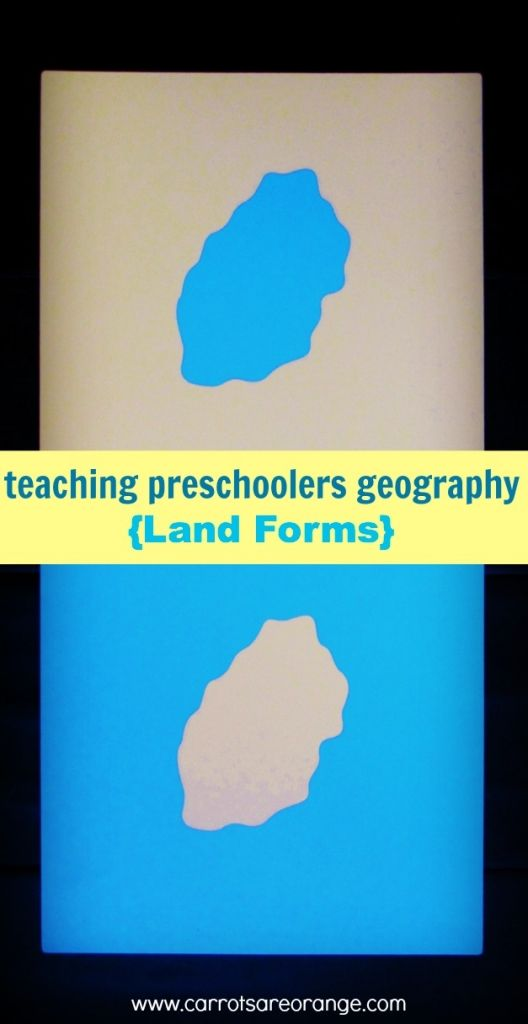 {Land Forms} Teaching Geography to Preschoolers: A simple lesson that will have a huge impact on your preschoolers