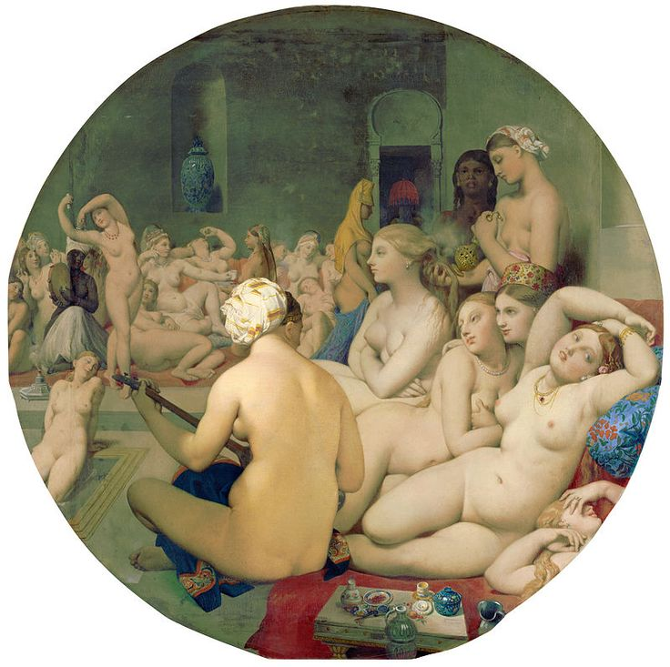 Le Bain Turc, by Jean Auguste Dominique Ingres, from C2RMF retouched - Դոմինիկ Էնգր - Վիքիպեդիա՝ ազատ հանրագիտարան