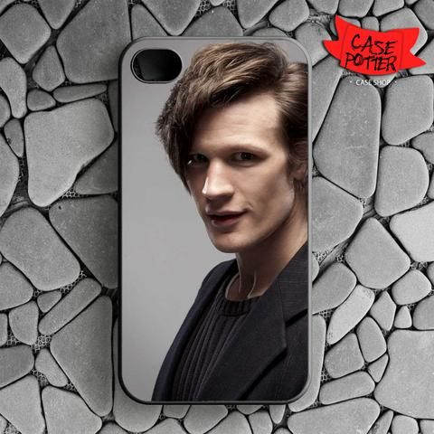 Matt Smith Is Doctor Who iPhone 4 iPhone 4S Black Case