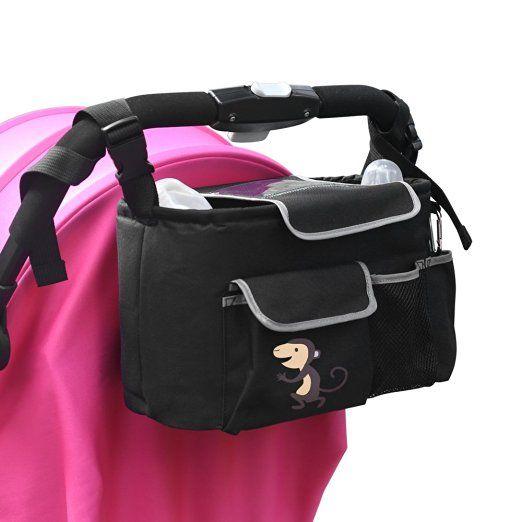 Baby Stroller Organizer Bag, Popsky Extra Storage Universal Stroller Cup Holders & Accessories Waterproof Storage Bag