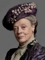 Violet, Dowager Countess of Grantham. (Dame Maggie Smith) Robert's mother. She is immensely proud, immensely loyal to her son and immensely insufferable to her American daughter-in-law, whom she regards as an interloper, a living compromise the family has had to make. She was born the daughter of a baronet, which Cora does not believe entitles Violet to carry on as if she were a Plantagenet, especially as she brought virtually no money with her. In other words, both women think themselves the...: Hats, Downtonabbey, Maggie Smith, Dame Maggie, Robert Mothers, Violets, Downton Abbey, Dowager Countess, Actresses