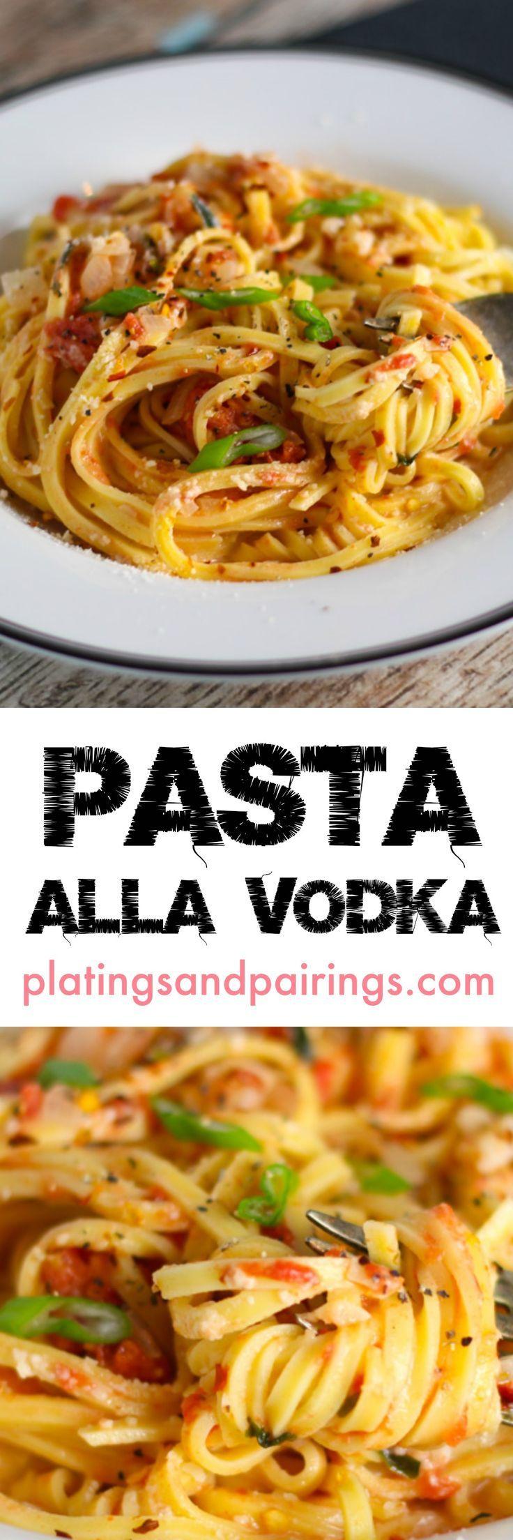 PASTA ALLA VODKA recipe! Delicious! Creamy, tomatoey, cheesy goodness ...thats easy to make & ready in just 30 minutes! #pasta #vodka