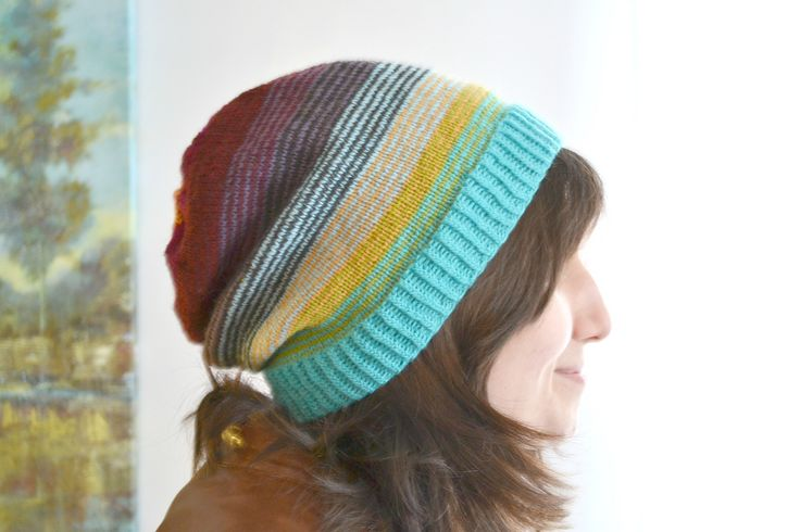 Ravelry: Sock Stashbuster Slouchy Hat pattern by Amanda Schwabe