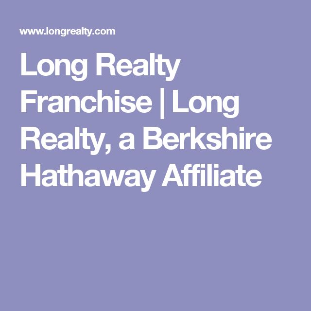 Long Realty Franchise | Long Realty, a Berkshire Hathaway Affiliate