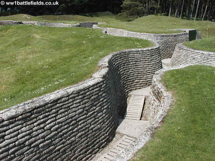 Preserved trenches at Vimy