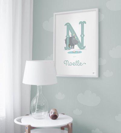 Personlig namntavla - Noelle - 50x70cm