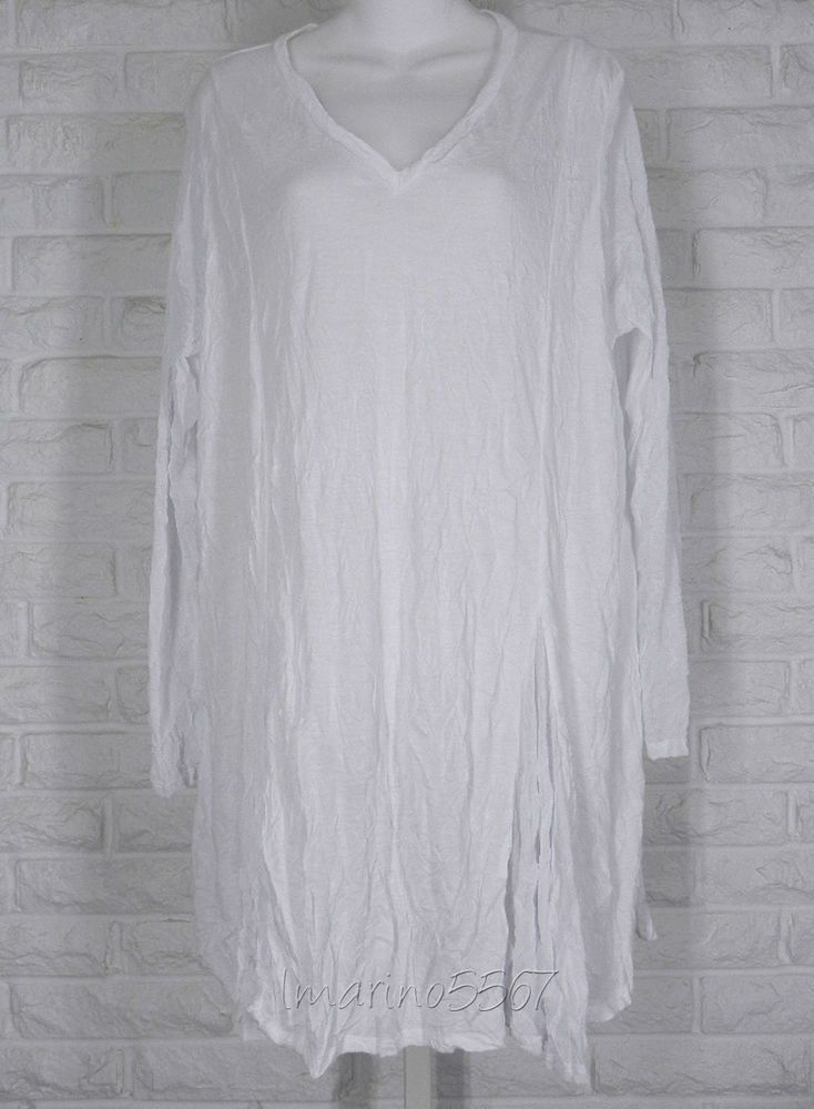 COMFY USA Jersey Tissue Crinkle Mesh Hathaway Tunic White NWT Ladies 1X in Clothing, Shoes & Accessories, Women's Clothing, Tops & Blouses | eBay