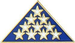 Armed Forces Insignia - FOLDED AMERICAN FLAG MEMORIAL FLAG PIN - MILITARY PINS / PATRIOTIC GIFTS