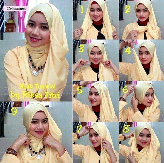 Contoh Tutorial Hijab Modern untuk Pesta Terbaru 2016 - Kumpulan ...