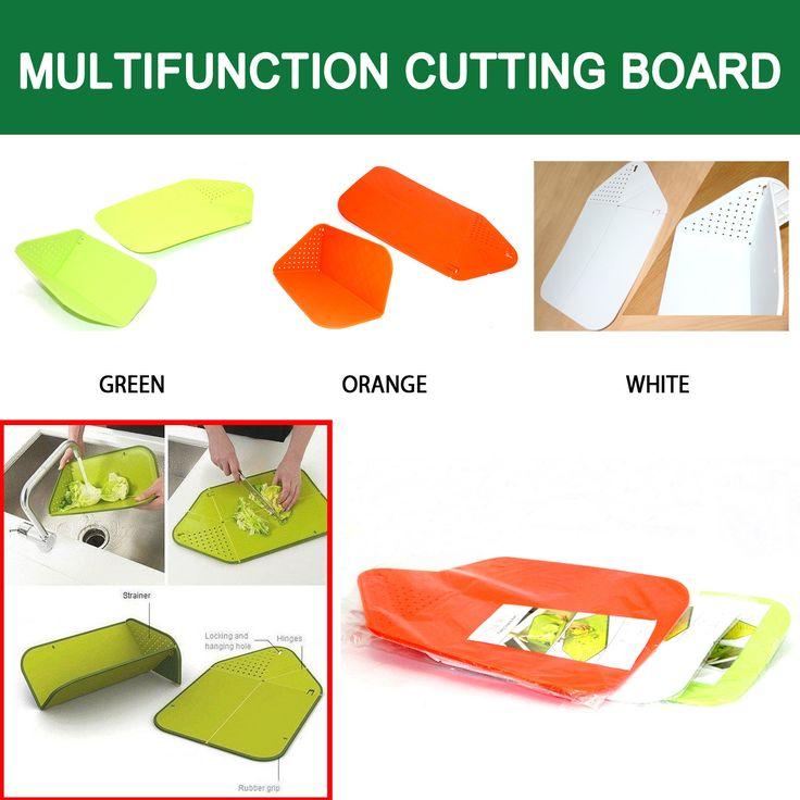 Memasak akan lebih gampang dengan Multifunction Cutting Board. Memudahkan anda dalan mengiris dan bisa di bentuk untuk menuangkannya, bisa dibentuk untuk keperluan lainnya juga. Material: ABS Ukuran: 30 x 26 cm  Rp 80.000 belum termasuk Ongkir :)