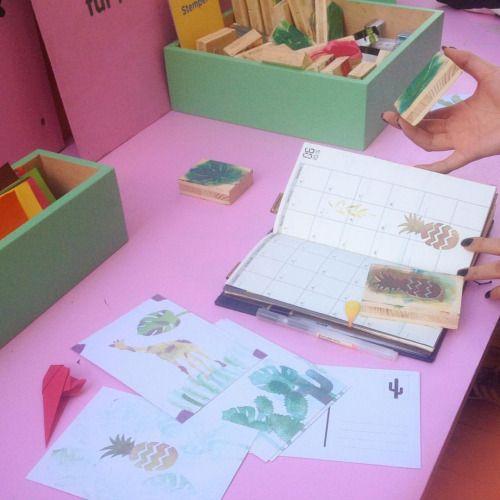 #sousboistropical #stempel #origami #postkarten #free (at sous-bois)