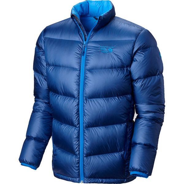 Mountain Hardwear Kelvinator Down Jacket ($137) ❤ liked on Polyvore featuring men's fashion, men's clothing, men's outerwear, men's jackets, mens water resistant jacket and mens long jacket