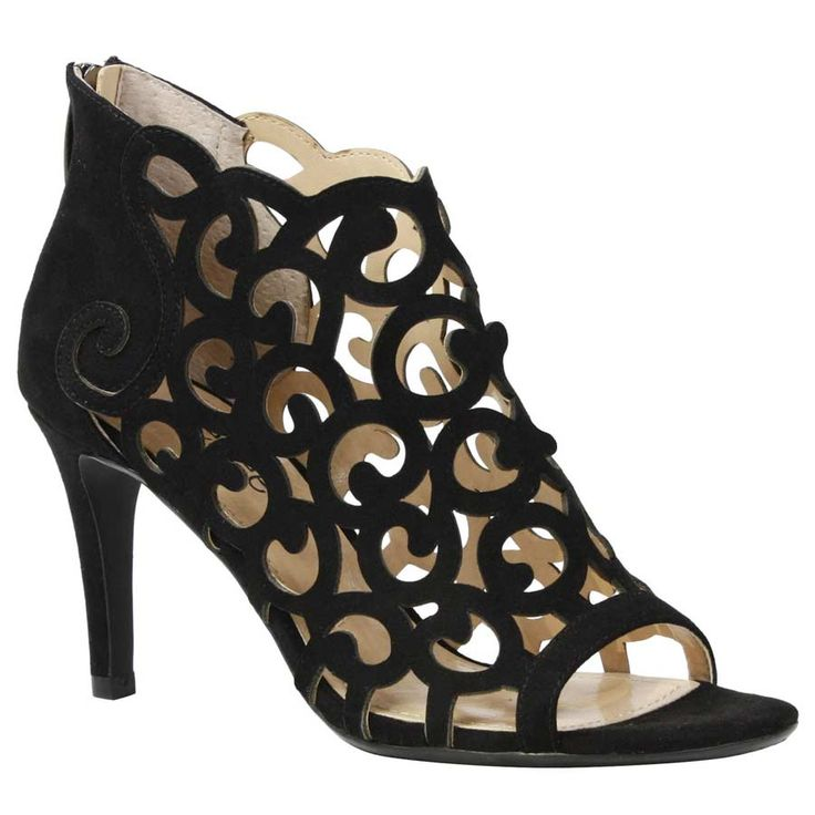 Elegant cut out back zip stiletto style shootie wrapped in soft rich micro-suede Versatile and sexy for any event or night out. Wear with the most elegant of ball gown, short sassy little black dress, or dark denim. The Mcwayfalls features a memory foam insole for added cushion and comfort. Make a style statement for any occasion with J. Renee'.