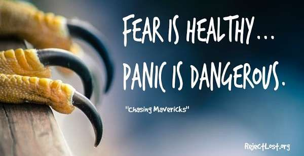 #Quotes about overcoming fear and panic (from Chasing Mavericks) -- more at: http://www.rejectlost.org/overcoming-fear-quotes-sayings/