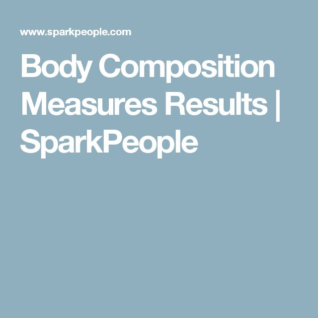 Body Composition Measures Results | SparkPeople