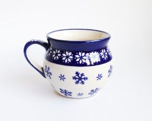 Barrel Mug 0.35l  #Christmas #Boleslawiec #polishpottery #potterycorne
