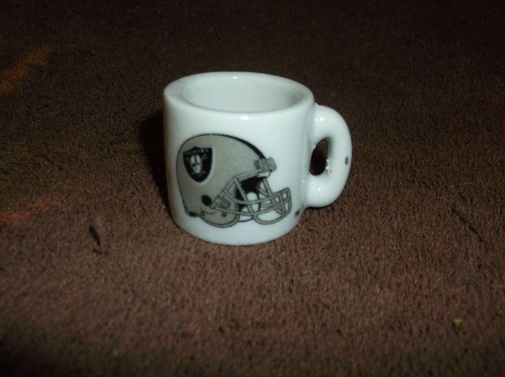 Vintage NFL Oakland Raiders Miniature Football MUG!!! #OaklandRaiders