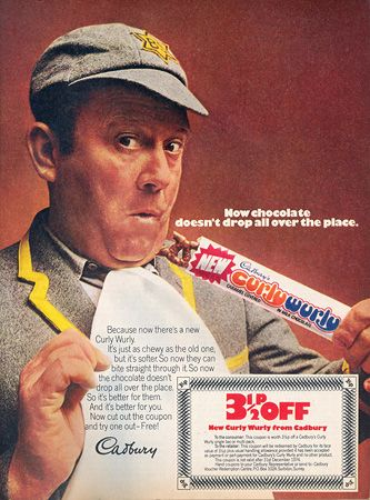 Curly Wurly advertisement with Terry Scott