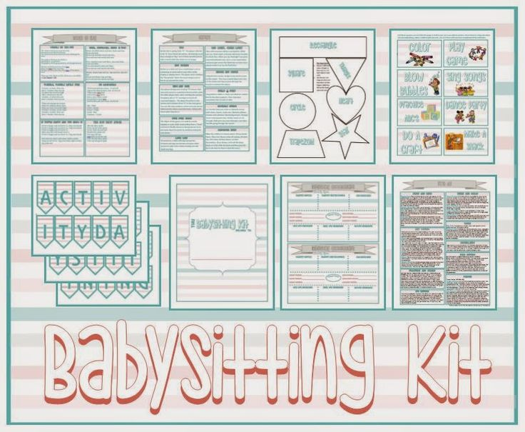 Activity Day Ideas: Activity Days Babysitting Kit - Serving Others
