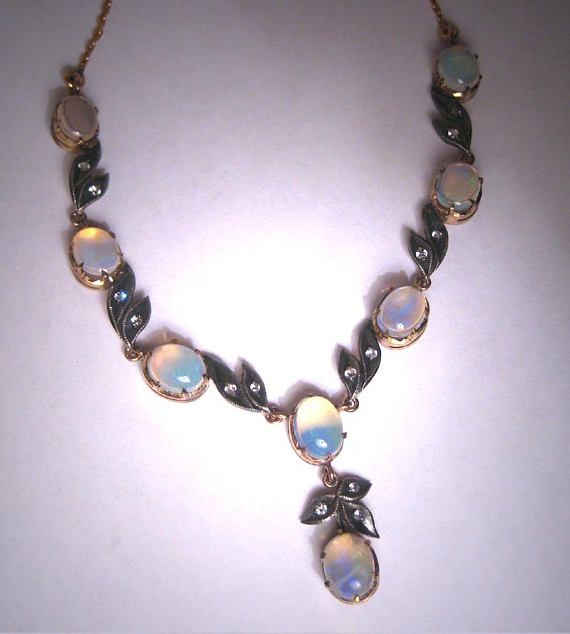 Vintage Antique Victorian style Austrian Crystal BLUE beaded choker /& earrings
