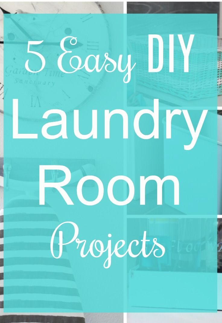 Get some laundry room inspiration. See How to Make 5 Easy DIY Laundry Room Projects that you could make in 1 day.