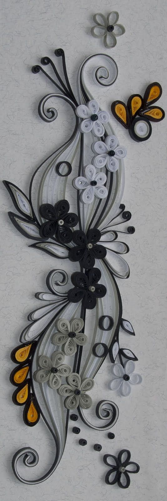 neli: Quilling black and white 2011/7