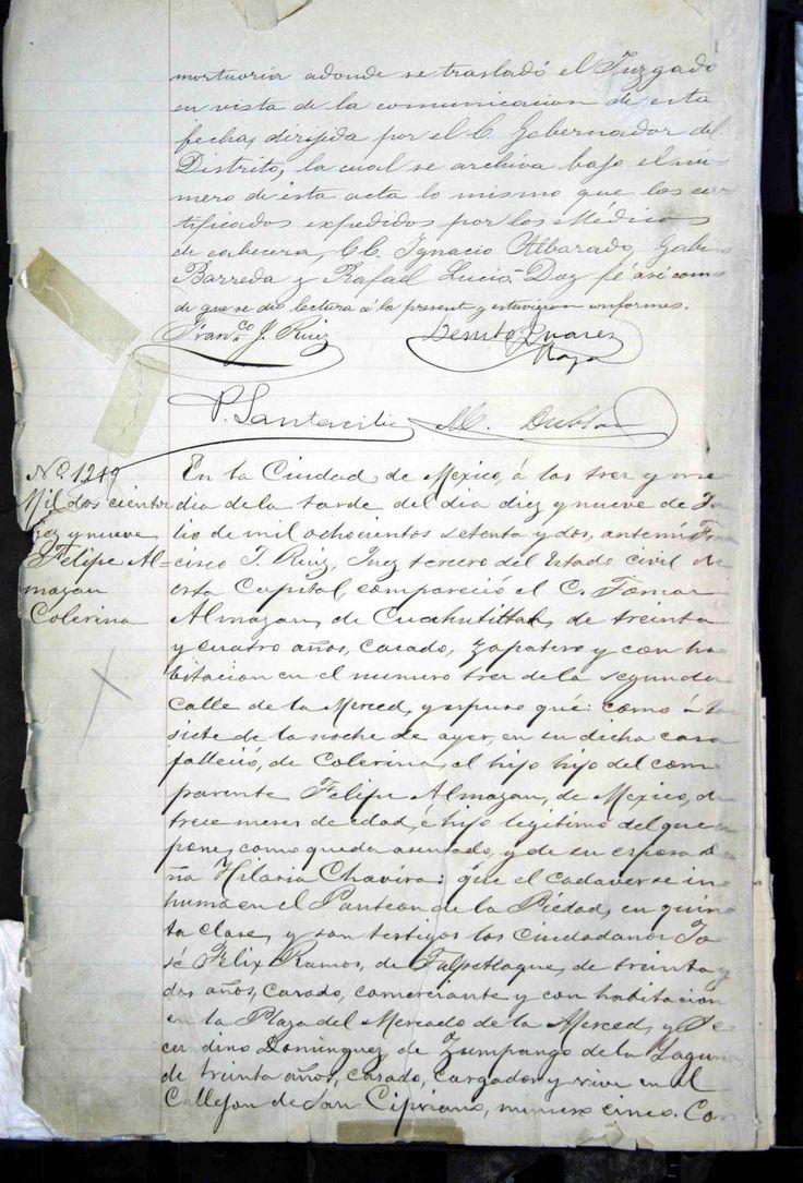Acta de Defunción de Benito Juárez (1872) 2/2