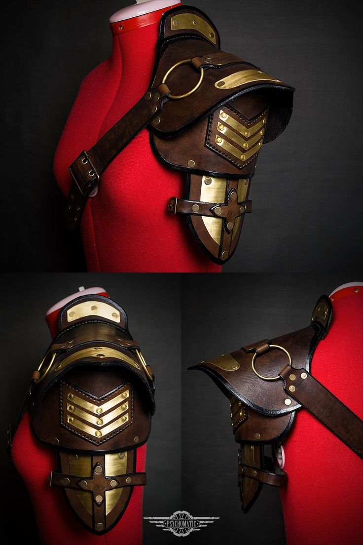 Steampunk shoulder pad final by LahmatTea armor | NOT OUR ART - Please click artwork for source | WRITING INSPIRATION for Dungeons and Dragons DND Pathfinder PFRPG Warhammer 40k Star Wars Shadowrun Call of Cthulhu and other d20 roleplaying fantasy science fiction scifi horror location equipment monster character game design | Create your own RPG Books w/ www.rpgbard.com