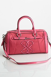 Guess Mural Box Satchel, Coral