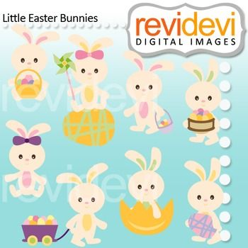 Cute Easter clip art featuring Easter bunnies with decorative eggs. These cliparts are great for easter hunt themed projects. A great graphic resource for teacher seller.  Buy in bundle, and save more! Link-Clipart Easter (3 packs) Easter Bunny and Friends  These digital clip arts are great for teachers and educators for creating their school and classroom projects such as for holiday bulletin board, printable, worksheet, classroom decor, craft materials, activities and games, and for more…