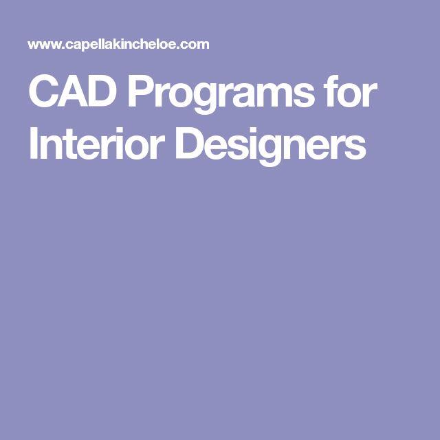CAD Programs for Interior Designers