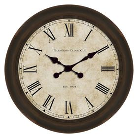 18-in Glenmont Global Clock