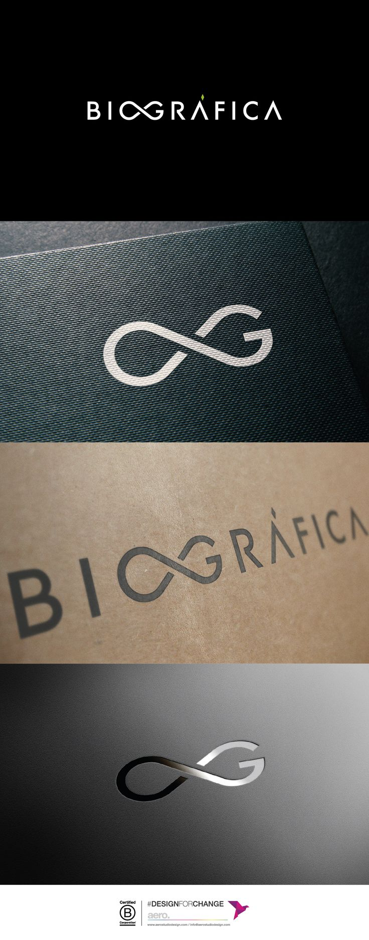 Biográfica branding design.