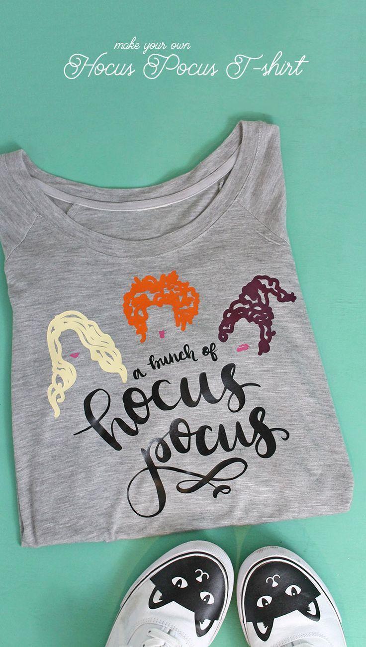 Diy Hocus Pocus T Shirt Halloween Cricut Halloween Projects