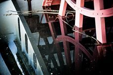 David Secor's photo. SS Sicamous Paddle Wheel reflected in water,