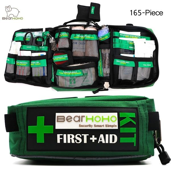 Handy First Aid Kit Bag 165 Piece Emergency Medical Rescue Workplace Outdoors Car Luggage School Hiking Survival Kits In 2020 Survival First Aid Kit First Aid Kit Medical Bag
