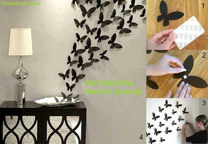 How to make Butterflies Wall Art Tutorial