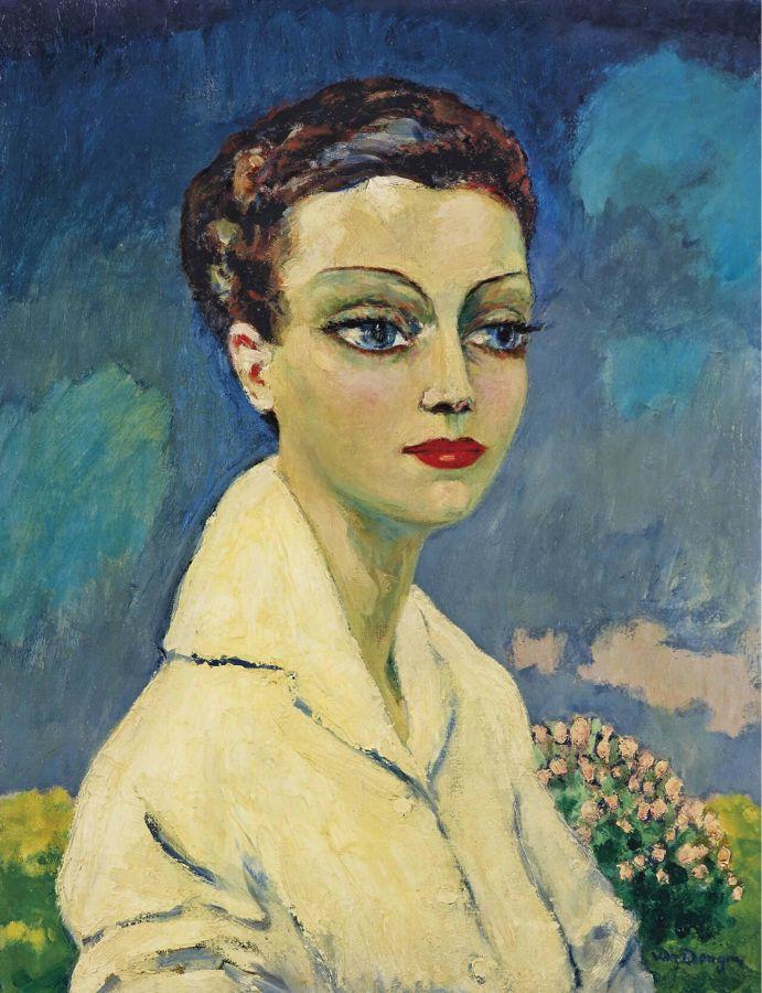 """""""Kees van Dongen (Dutch 1877-1968) Femme à la blouse blanche"""