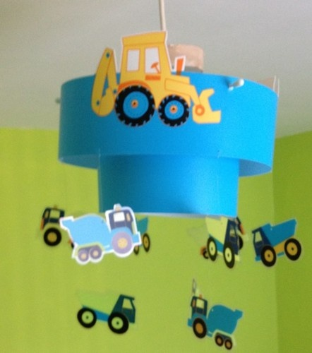 Boys Next Little Digger Light Shade 99p Childs Bedroom 99p L K Ebay