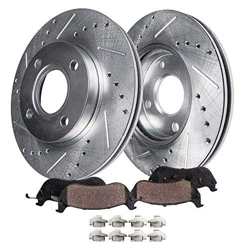 Detroit #Axle – 4-Lug #Drilled & #Slotted #Front #Brake