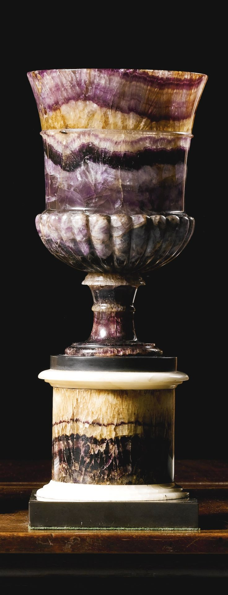 A George III Blue john vase circa 1800 with gadroo…