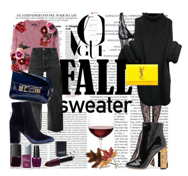 """Fall Sweaters  Styling"" by roxana97 on Polyvore featuring Balmain, La Perla, Oris, Dolce&Gabbana, RE/DONE, Gianvito Rossi, Proenza Schouler, NARS Cosmetics, Christian Dior and OPI"