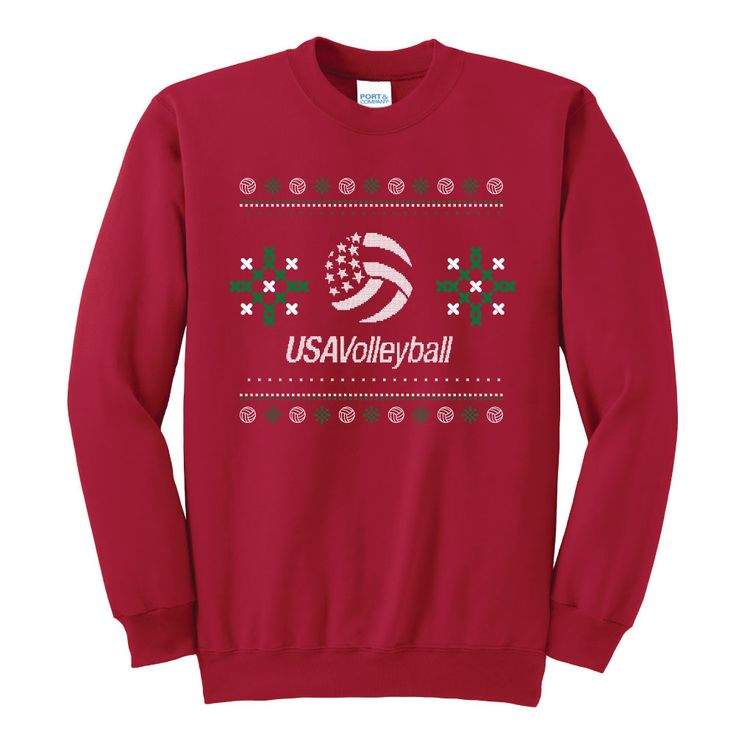 USA Volleyball Ugly Christmas Sweatshirt | USA Volleyball Shop