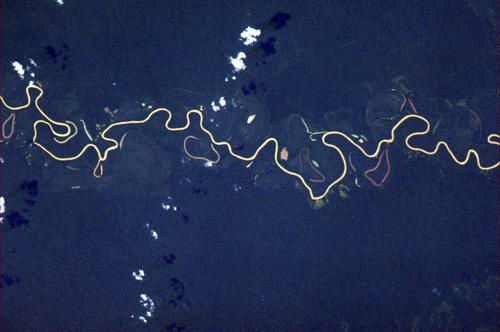 I'm sure this river takes itself seriously, but it makes me laugh. - Chris Hadfield ISS